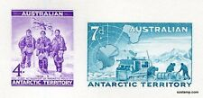 Australia Replica Card #8 Antarctic AAT Unissued Stamps Die Proof