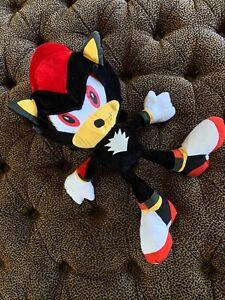 "RARE Toy Network SEGA Sonic The Hedgehog Shadow 24"" Plush Toy Stuffed Animal"
