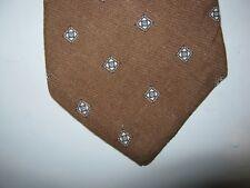 Gloria Vanderbilt Tie Necktie 58 x 3 brown blue gray 14419