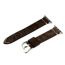 Clockwork Synergy® Dapper Suede Buffalo Brown SS Watch Band for 42mm Apple Watch