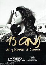 PUBLICITE ADVERTISING 096  2012  L'Oréal  15 ans Glamour Festival Cannes ( 10p)