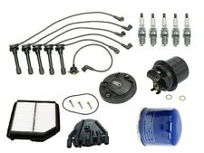 Ignition Tune Up Kit Filters Cap Rotor Spark Plugs Wire Acura Vigor 92-94 L5 2.5