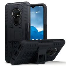 Nokia 6.2/7.2 Shockproof Rugged Tough Armour Hard Case with Stand in Black