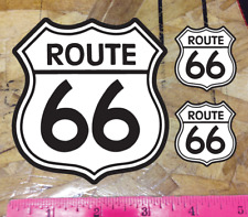 Route 66 Black & White Vinyl Die Cut Car Decal Sticker - 3 for 1 - choose size