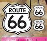 Route 66 Black & White Vinyl Die Cut Car Decal Sticker - 3 for 1 - choose size