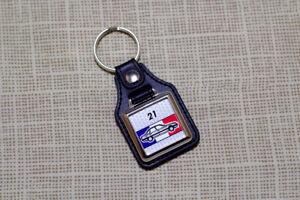 Renault 21 Keyring - Leatherette and Chrome Keytag