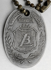 """Vintage Charge Coin Tag: """"LIT BROTHERS"""" Philadelphia Dept Store; Women's Hats"""