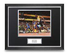 Bolt, Gatlin & Coleman Signed 16x12 Framed Photo Display Olympics Autograph +COA