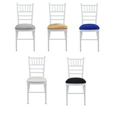 SPANDEX LYCRA SEAT PAD COVER WITH ELASTICATED EDGE For Chivari WEDDING CHAIRS
