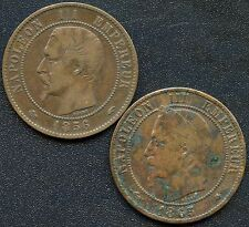 France 1856 'A' & 1865 'A' 10 Centimes Coins