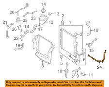 MERCEDES OEM 07-12 GL450 4.6L-V8 Radiator-Return Hose 1645004275