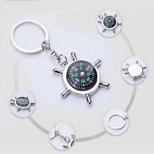 Ring Keyfob Gift Keyring Keychain Fashion Compass Metal Car Key Chain