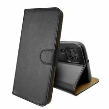 SDTEK Leather Wallet Flip Cover Case for Huawei P40 Lite (Black)