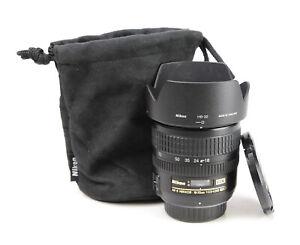 Nikon AF-S 18-70mm F3.5-4.5 G ED DX Autofocus Zoom Lens - Both Caps & Hood - EXC