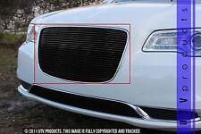 GTG 2015 - 2018 Chrysler 300 / 300C 1PC Gloss Black Overlay Upper Billet Grille