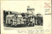 CASSEL Kassel Hessen ~1900 Gruss Wilhelmshöhe Strassen Partie a.d. Löwenburg