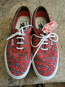 Vans Off The Wall size 5 paisley pattern