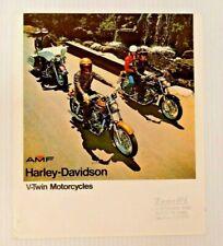 RARE 1975 HARLEY-DAVIDSON BROCHURE XL-1000 XLCH-1000 FX-1200 FXE-1200 FLH-1200