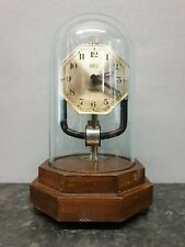 Vintage Octagonal Bulle Clockette Battery Powered Electromagnetic Mantle Clock