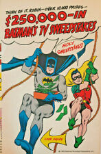 Rare Vintage TV Batman & Robin 1966 National Periodical AD Gleem Prell Color Art