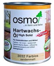 Osmo Hartwachs-Öl Original Farblos Seidenmatt 0,75  l TOP NEUWARE