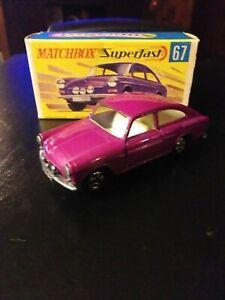 Matchbox Lesney #67 VW 1600TL SUPERFAST NM IN Original Box