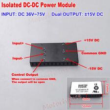 Corriente Directa - 36V ~ 72V 48V de corriente directa a ± 15V de doble salida bajar Convertidor Módulo De Alimentación