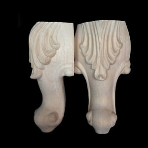 Set of 4 Wooden Furniture Legs Feet for Sofa Table Chair Stool Couch Cabinet