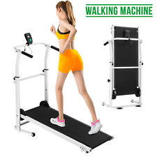 Manual Treadmill Working Machine Cardio Fitness Exercise Folding Incline Home