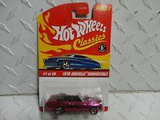 Hot Wheels Classics Series 2 #1 Pink 1970 Chevelle Convertible