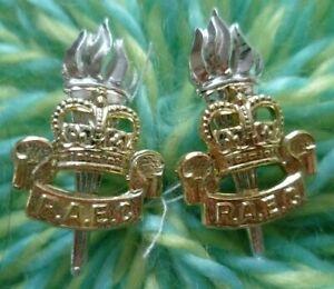 Staybrite Royal Army Educational Corps RAEC COLLAR Badge Anodised Aluminium-PAIR