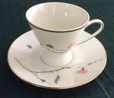 Rosenthal JAPANESE QUINCE (PLATINUM)  Cup & Saucer Set