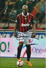 Clarence SEEDORF SIGNED Autograph 12x8 Photo AFTAL COA Holland AC MILAN Italy