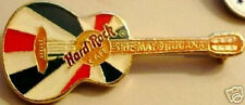 Hard Rock Cafe TIJUANA 1998 Cinco de Mayo GUITAR PIN with Mexico Flag Colors