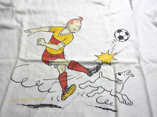 RARE ancien tee shirt pour enfant Lombard 1983 Tintin Tim Kuifje