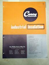 Philip Carey Mfg Catalog~Asbestos~Industrial Insulation~Thermotex/Pipe/Sponge