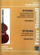 Franz Simandl 30 Etüden für Kontrabass Noten
