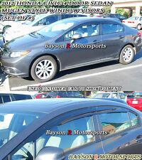 Mu-gen Style Window Rain Guard Visors (Tinted) Fits 12-15 Civic 4dr