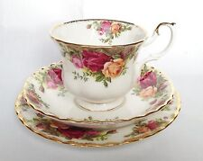 Royal Albert Old Country Roses Trio - Vintage Cup and Saucer and Tea Plate