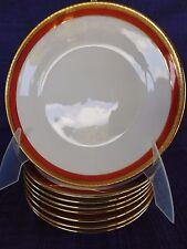 Richard Ginori PALERMO RUST SALAD PLATE multiples  Rust Red orange gold