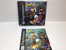 Crash Bandicoot 3: Warped (Sony PlayStation 1, Ps1) *Black Label - Complete* wa2