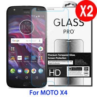 2X 9H Real Tempered Glass Screen Protector For Motorola Moto X4 2017