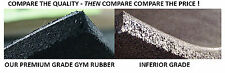 GYM RUBBER TILES - BLACK WITH RED FLECK - PREMIUM GRADE