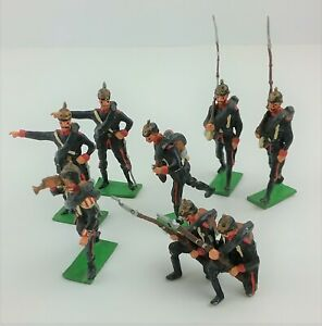 Authenticast Toy ' Lead ' Soldiers WWI German Prussian Infantry Lot 8 Vintage