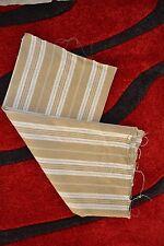 Tissu ancien rayé coupon de toile épaisse (métis ?) à matelas (1m50 x 0m80)