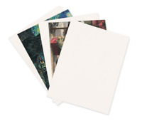 "100 White + Brown Chipboard 8.5x11 Cardboard Scrapbook Sheets Pads 8.5""x11"""