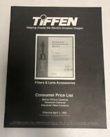 Vintage 1992 Tiffen Filters & Lens Accessories Consumer Price List 29 Pages