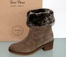 TONI PONS Wildleder Stiefelette Boots Fell Taupe - Made in Spain - Neu! Gr. 39