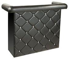 Febland Crystal diamante Miami Bar Unit, faux leather - BLACK