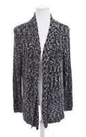 Chico's Tweed Open Front Duster Tunic Sweater Cardigan Black Womens Sz 3 /~/ XL